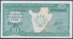 Burundi  10 Franks