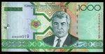 Turkmeniskan  1000 Manat