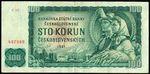 100 Koruna 1961