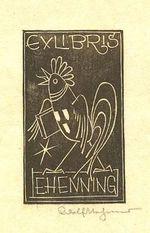 Ex libris E  Henning