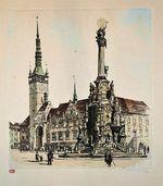 Olomouc   Horni namesti s radnici a Sloupem Nejsvetejsi trojice