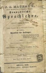 Franzosische Sprachlehre