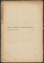 Opisy a preklady z obecne kroniky