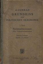 Grundriss der Politischen Oekonomie 1 Teil  Nationalokonomie