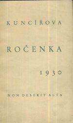 Kuncirova rocenka 1930