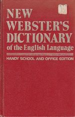 New websters dictionary of the English Language