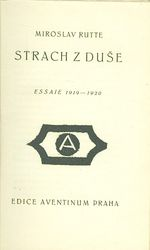 Strach z duse  Essaie 1919  1920