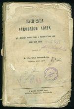 Duch Narodnich novin  spis obsahujici uvodni clanky z Narodnich novin roku 1848  1849 a 185