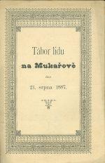 Tabor lidu na Mukarove dne 21  srpna 1887