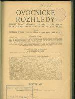 Ovocnicke rozhledy  Odborny casopis venovany veskerym otazkam ovocnickym  vestnik ovocnickych spolku pro Kral ceske