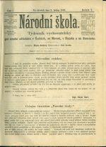 Narodni Skola  Tydennik vychovatelsky pro narodni ucitelstvo v Cechach  na Morave  v Slezsku a na Slovensku