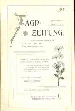 Jagd Zeitung  Illustrirte Zeitschrift fur Jagd  Fischerei und Schutzenwessen