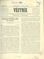 Vestnik hospodarskeho spolku Humpoleckeho  Polenskeho   Pelhrimovskeho a Pribyslavskeho  roc  VII