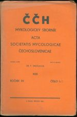 CCH  Mykologicky sbornik  Acta Societatis Mycologicae Cechoslovenicae  roc  XV