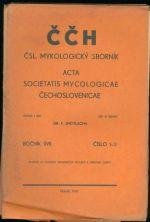 CCH  Mykologicky sbornik  Acta Societatis Mycologicae Cechoslovenicae  roc  XVII