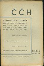 CCH  C  mykologicky sbornik  Acta societatis Mycologicae roc  XIX