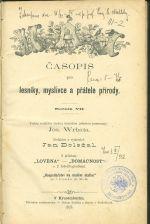 Haj  Casopis pro lesniky  myslivce a pratele prirody  roc VII