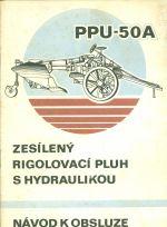 Zesileny rigolovaci pluh s hydraulikou PPU  50A
