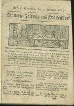 Bauern  Zeitung aus Frauendorf 1819