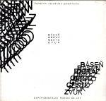 Basen  Obraz  gesto  zvuk experimentalni poezie 60  let