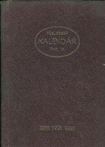 Zapisni vcelarsky kalendar 1921