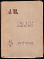 Dalimil  Ceska kronika tak receneho Dalimila