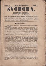 Svoboda  Politicky casopis konvolut