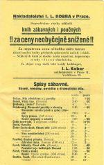 Nabidkovy katalog knih nakladatelstvi Solc a Simacek a I L Kober Praha   antikvariat - detail knihy