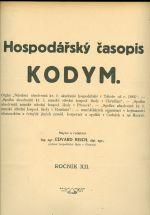 Kodym  Hospodarsky casopis roc XII