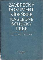 Zaverecny dokument videnske nasledne schuzky KBSE 4 listopadu 1986 19 ledna 1989