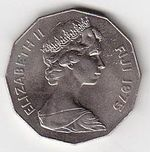 50 Cent 1975 Fiji Elizabeth II