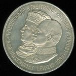 5 Marka 1909  univ  Lipsko  Sasko Fr August III