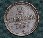 2 Krejcar 1851G RakouskoUhersko FrJosef I
