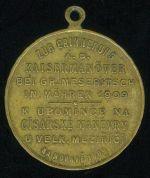 Manevrov medaile Velke Mezirici 1909 - C246 | antikvariat - detail numismatiky