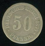 Nemecko  Vilem I  1871  1888  50 Fenik 1876 A