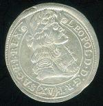 Uhry Leopold I 1657  1705 XV Krejcar 1982 - C982   antikvariat - detail numismatiky
