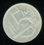 Ceskoslovensko republika 1918  1938  5 Koruna 1932