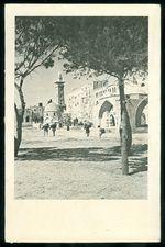 Jerusalem  predtisteny vanocni pozdrav Jadranske cestovni kancelare z roku 1937
