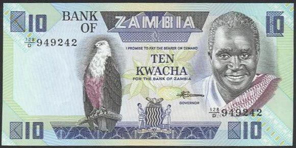 Zambie  10 Kwacha - A7951 | antikvariat - detail bankovky