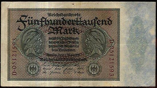 500000 Marek 1923 - A8939 | antikvariat - detail bankovky
