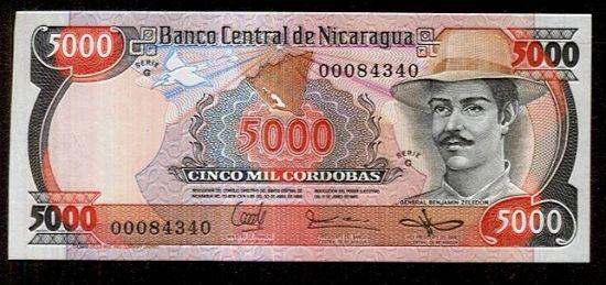 Nicaragua   5000 Cordobas - c753 | antikvariat - detail bankovky