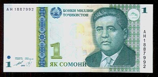 1 Somoni  Tadzikistan - C791   antikvariat - detail bankovky