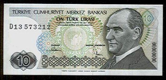 Turecko  10 Lirasi - C793 | antikvariat - detail bankovky