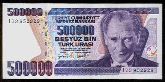 Turecko  500000 Lirasi - C796 | antikvariat - detail bankovky