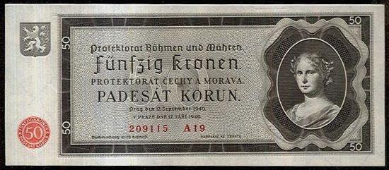 50 Koruna 1940 - A9220 | antikvariat - detail bankovky