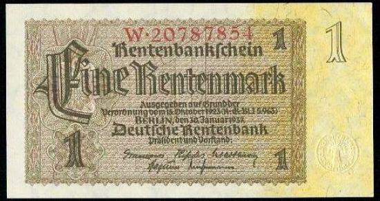 1 Rentenmarka 1937 - A9284 | antikvariat - detail bankovky