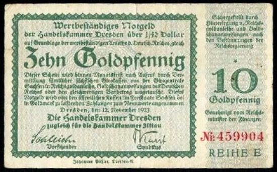 10 Goldfenik - A9291 | antikvariat - detail bankovky