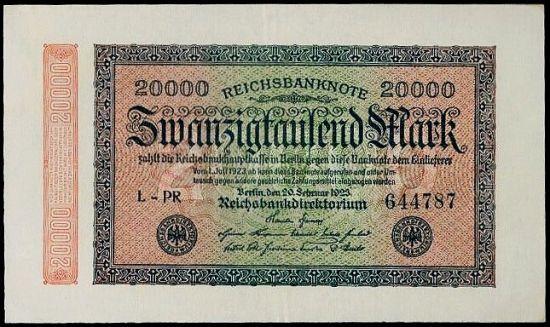 20000 Marek 1923 - A9400 | antikvariat - detail bankovky