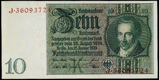 10 Marka 1929 Podt K - 9416   antikvariat - detail bankovky