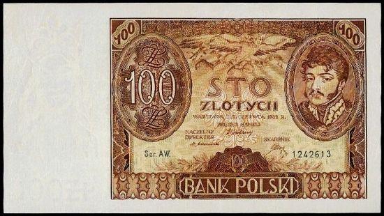 100 Zlotych 1932 - 9441   antikvariat - detail bankovky